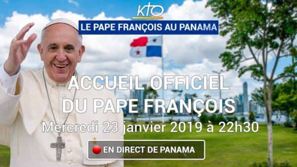 Arrivée du Pape François au Panama