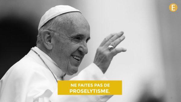Ne faites pas de prosélytisme !