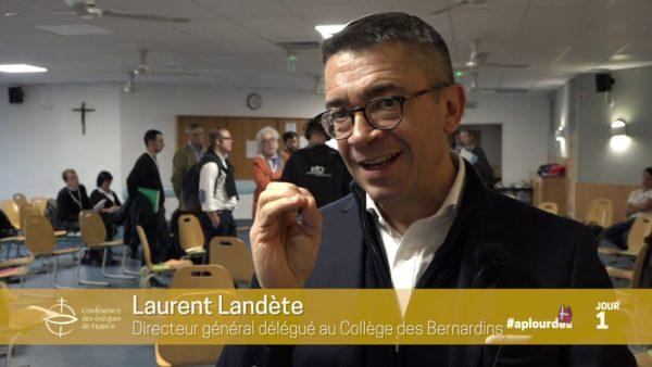 Assemblée plénière de novembre 2019 : interview de Laurent Landète
